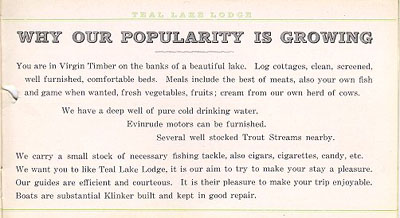 Teal Lake Lodge 191 brochure