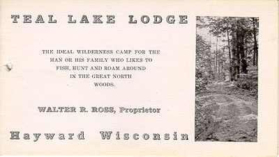Teal Lake Lodge 1921 Brochure