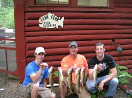 Gunkle grandsons with Walleye stringer